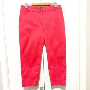 Petite Talbots The Perfect Crop Coral Cropped Pant